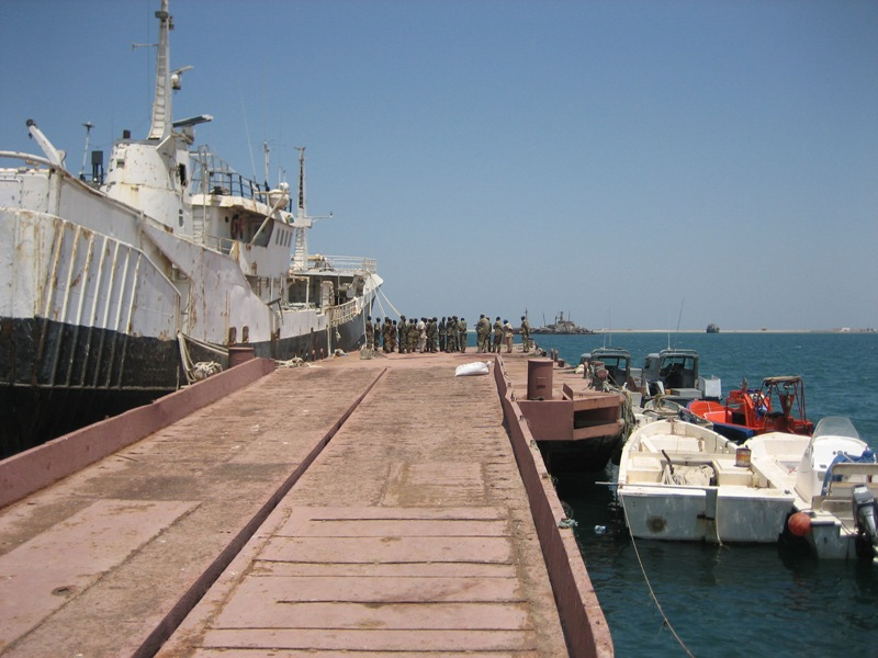 Berth in dock
